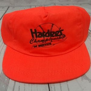 Vintage Fluorescent Orange Hardee's Hat